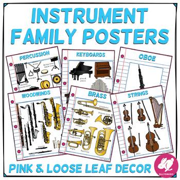 Pink & Loose Leaf Decor: Instrument Family