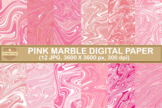 Pink Marble Digital Papers Abstract Texture Background