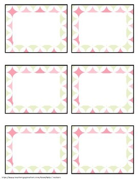 Pink Mint EDITABLE Name Tags and Labels