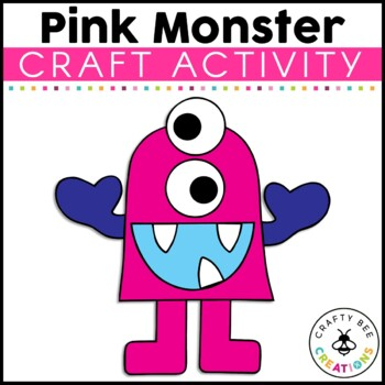 Pink Monster Cut and Paste