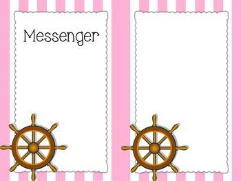 Pink Nautical Classroom Helpers