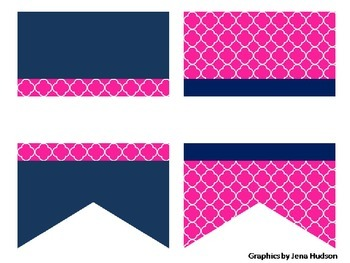 Pink & Navy Anchor Classroom Labels & Decoration Set!