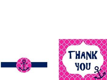 Pink & Navy Anchor Classroom Labels & Decoration Set!