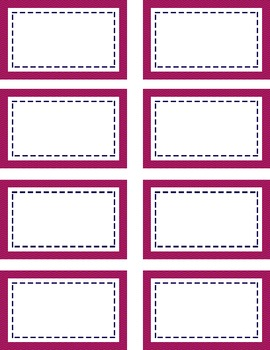 Pink & Navy Tags