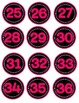 Pink Neon Numbers