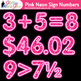Pink Neon Sign Numbers Clip Art | Glitter Classroom Decor & Resources for Math