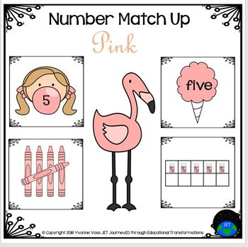 Pink Number Match Up