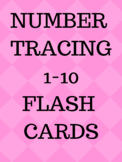 Pink Number tracing Flash cards 1-10, Handwriting number practice