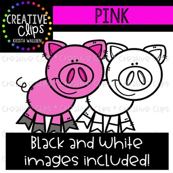 Pink Objects Clipart {Creative Clips Clipart}