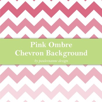 Pink Ombre Chevron Background