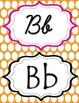 Pink & Orange Polka Dot manuscript & cursive ABC Classroom
