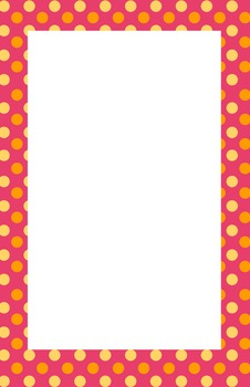 Pink, Orange, Yellow Polkadot Border