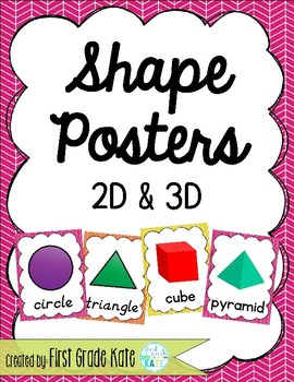 Pink, Orange, & Yellow Shape Posters for Classroom Decor