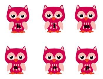 Pink Owl Alphabet Match