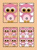Pink Owl  Dolch Pre-Primer High Frequency Sight Word Flashcards and Posters
