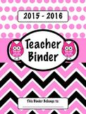 Pink Owl Teacher Binder
