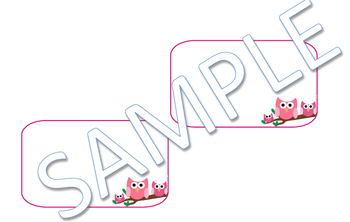 Pink Owls Name Tags