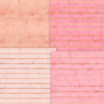 """Pink Passion Digital Papers, 12"""" x 12"""" High Resolution, Instant Download."""