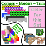Pink Pastel Borders Trim Corners *Create Your Own Dream Classroom/Daycare*