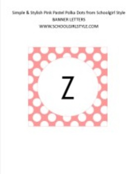 Pink Pastel Polka Dot Collection Classroom Decor