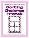 Pink Pastel Sorting Mat Frames * Create Your Own Dream Cla