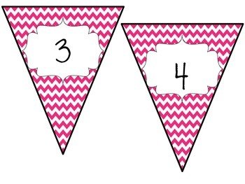 Pink Pennant Banner