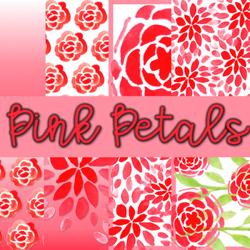 Digital Papers for TPT Sellers- Pink Petals