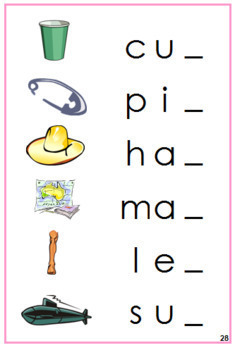 Pink: Phonetic Ending Sound Cards