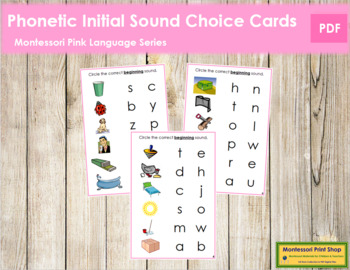 Pink: Phonetic Initial Sound Choice Cards