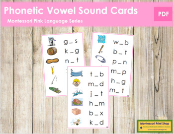 Pink: Phonetic Medial Sound Cards