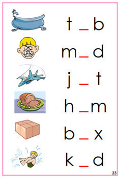 Pink: Phonetic Vowel Sound Cards