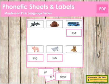Pink: Phonetic Sheets and Labels (real pictures)