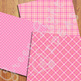 Pink Plaid Digital Papers / Plaid Backgrounds / Pink Plaid Patterns