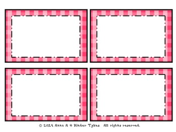 Pink Plaid Labels by Kinder Tykes