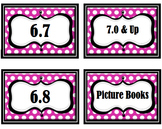 Pink Polka Dot Avery 8164 Editable Labels AR Book Levels