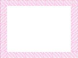 Pink Polka Dot Border
