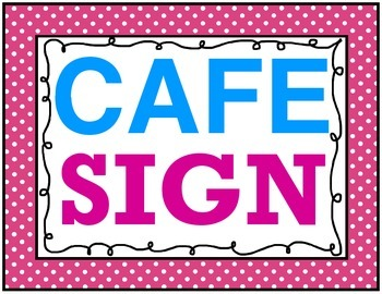 Pink Polka Dot CAFE Sign