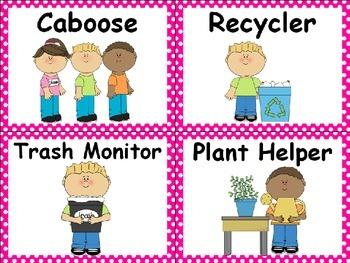 Polka Dot Classroom Labels - Pink