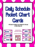 Pink Polka Dot Daily Schedule Cards