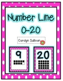 Pink Polka Dot Number Line 0-20 with 20 Frames!