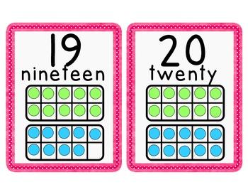Pink Polka Dot NumberLine/Cards