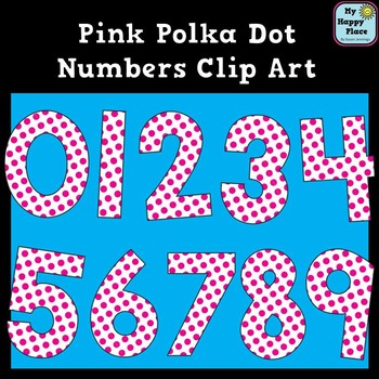 Pink Polka Dot Numbers Clip Art