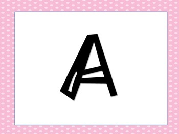 Pink Polka-Dot Word Wall Letters