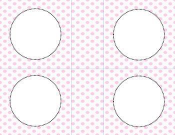 Pink Polka Dots Classroom Labels and Tags