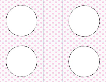Pink Polka Dots Classroom Labels and Tags