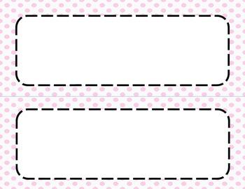 Pink Polka Dots Classroom Tags and Labels