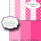 Pink Polka Dots Galore Paper Pack