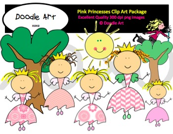Pink Princesses Clipart Pack