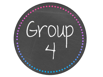 Pink/Purple/Blue Chalkboard Table/Group Sign
