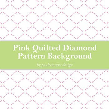 Pink Quilted Diamond Pattern Background